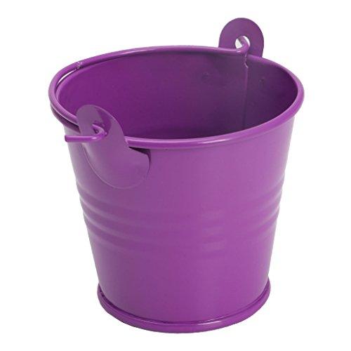 LLLucky Mini Pot De Fleurs en Métal Tonneau Plante Plante Succulente Pot De Fleurs Home Office Decor Violet Pot De Fleurs