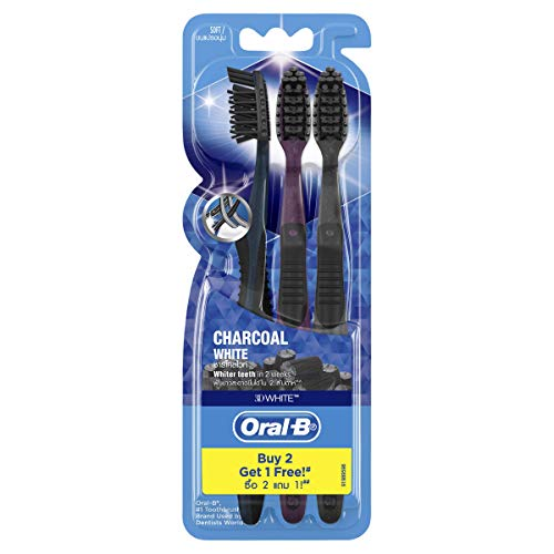 Oral-B 3D White Charcoal White Toothbrush 3 Pack