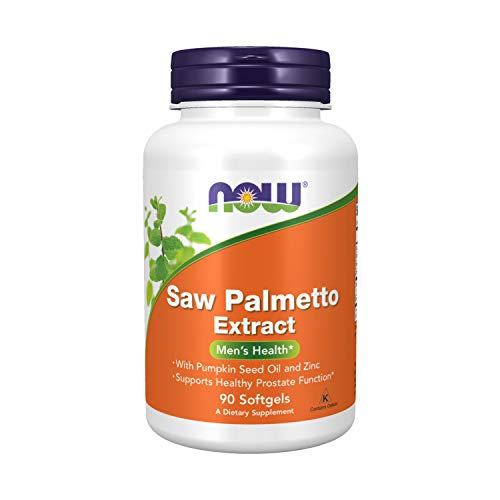 NOW Supplements, Saw Palmetto Extract with Pumpkin Seed Oil and Zinc, Men's Health*, 90 Softgels