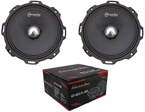 x2 American Bass Godfather GF 605 FL MR 6 5 1300W 4 Ohm Midrange Bullet Speaker product image