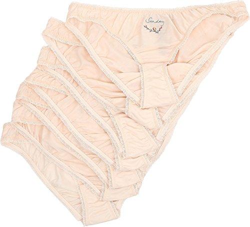 Stella McCartney Women's Knickers of The Week Seven-Piece Pack Bikini Brief, Light Pink, SM