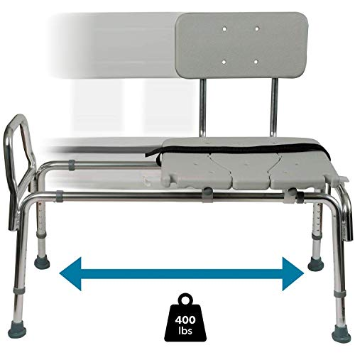 For Sale! Tub Transfer Bench and Sliding Shower Chair Made of Heavy Duty Non Slip Aluminum Body and ...