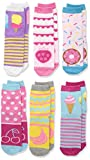 Jefferies Socks Mädchen Sweat Treats Ice Cream/Donuts Fashion Crew 6 Pair Pack Socken, Multi, Small