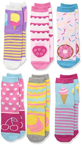 Jefferies Socks Mädchen Sweat Treats Ice Cream/Donuts Fashion Crew 6 Pair Pack Socken, Multi, Small