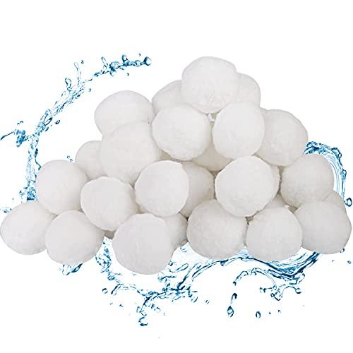 Vegena Filter Balls 700g, Filterballs für Sandfilteranlagen, Filterbälle Poolreinigung Poolpumpe Sandfilter, Pool Zubehör für Filterpumpe, Poolfilter, Schwimmbad, Aquarium, Salzwasser