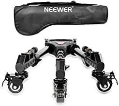 Neewer Photography Professional Heavy Duty Tripod Dolly with Rubber Wheels and Adjustable Leg Mounts for Canon Nikon Sony DSLR Cameras Camcorder Photo Video Lighting