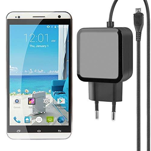 Fontastic Essential Ladegerät Micro-USB für Vkworld VK700 Pro - Schwarz - 1,2m - 2,4A