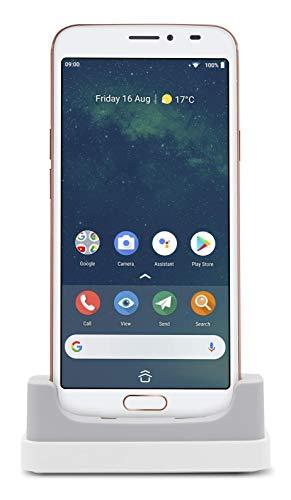 Doro 8080 Smartphone 4G Débloqué pour Seniors avec Écran de 5.7', Caméra de 16MP, Touche d'Assistance avec Géolocalisation et Socle Chargeur Inclus (Blanc)...