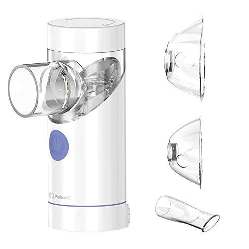Nebulizador de Inhalador de Malla de bajo ruido - Nebulizador de Garganta Recargable & Máscara para bebés, Niños y Adultos - Inhalador Ultrasónico de Asma Efectivo para las Enfermedades Respiratorias
