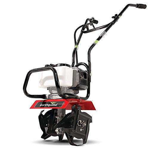 Earthquake 31452 MAC Tiller Cultivator, Powerful 33cc 2-Cycle Viper Engine, Gear Drive Transmission, Lightweight, Easy to Carry, 5-Year Warranty, Red