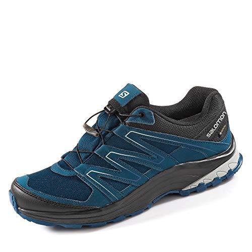 SALOMON L40923200 Herren Sollia Gore-TEX® Outdoorschuh aus Nylonmeshmaterial, Groesse 44, blau/schwarz