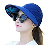 ELEPHANTBOAT Wide Brim Sun Hats Summer Beach Visor Cap Anti-UV Sunhat for Women