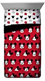 Jay Franco Disney Mickey Mouse Cute Faces Twin Comforter - Super Soft Kids Bedding - Fade Resistant Polyester Microfiber Fill (Official Disney Product)