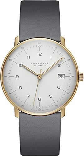 JUNGHANS max Bill Automatic, Antireflex-Saphirglas, Lederarmband, 027/7806.02