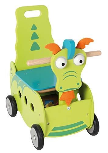 I'm Toy Bartl 111550 Schiebewagen Drache aus Holz, Spitzen Qualität