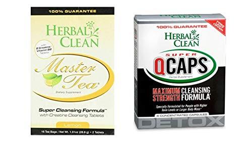 Detox Tea, Same-Day Detox and 4 QCaps, 16 Tea Bags