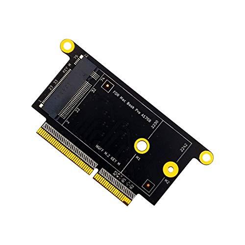 LWSJ Adaptador de Tarjeta de Memoria Adaptador SSD M2 para MacBook 1708 NVM-E, 2230 2242 Key-M M.2 SSD para Apple MacBook Pro A1708 Adaptador SSD para MacBook