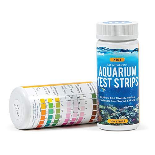 Milliard Wassertest für das Aquarium / 7 in 1/100 Teststreifen/für Süß- und Salzwasserbecken