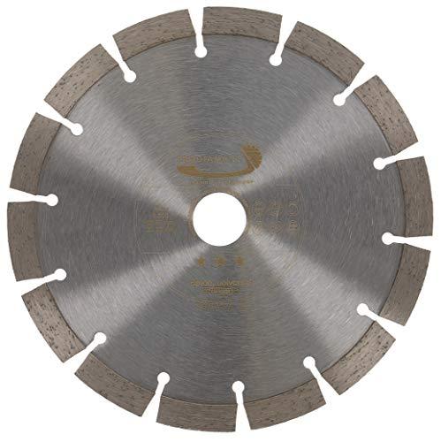 PRODIAMANT Diamant-Trennscheibe 180 x 22,2 mm 12mm Premium Diamant Segment - Beton, Stein, Ziegel, universal 180mm für trocken und nass schneiden