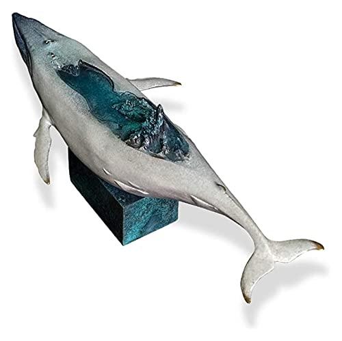 WQQLQX Statue Wal Statue Kupfer Marine Life Skulptur Handwerk Modell Dekoration Dekoration Zubehör Schreibtisch Desktop Figuren Kunstgeschenke Skulpturen