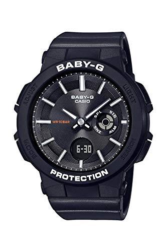 CASIO Damen Analog-Digital Quarz Uhr mit Harz Armband BGA-255-1AER