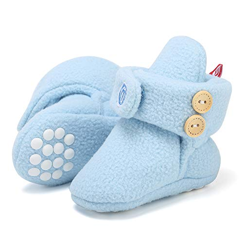 Lancholy Newborn Baby Soft Fleece Winter Bootie