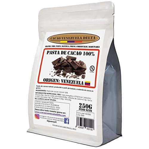 Chocolate Negro 100% · Origen Venezuela (Puro, natural y en trocitos) · 250g