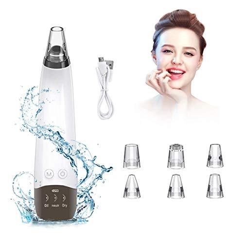Mitesserentferner Porenreiniger Vakuumsauger Mitesser Entferner, Wiederaufladbarer Mitesser Sauger Skin Vacuum Cleaner Pore Cleanser Gesicht Reinigung mit LED-Bildschirm und 6 Sonden und 3 Modi