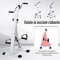 homcom Pedaliera Braccia e Gambe da Divano o Poltrona con Schermo LED, Altezza e Intensità Regolabile, Bianco, 41x50x96cm #4