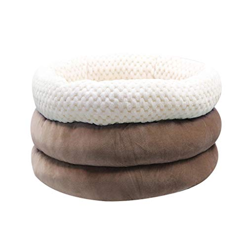 Goosun Cat Bed with Round Cushion Foldable Hamper-Shaped Design (Cat Hamper) Washable Warming Cat Bed Kitten Bed, Round Soft Cat Beds,Pet Sofa Beds for Cats or Small Dog