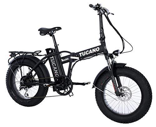 Tucano Bikes Monster 20 Limited Edition. Bicicleta Eléctrica Plegable - Motor 500W - Supensión Delantera - Velocidad Máxima 33km/h - Display LCD - Frenos hidráulicos (Negro Mate)