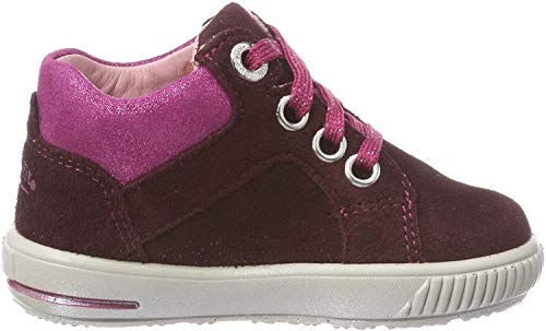 Superfit Baby Mädchen Moppy Sneaker, Rot (Rot/Rosa 50), 24 EU