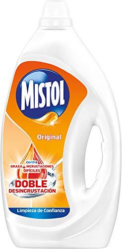 Mistol Original Detergente para Limpiar Vajillas a Mano, Blanco, Aloe Vera, 3500 Mililitros
