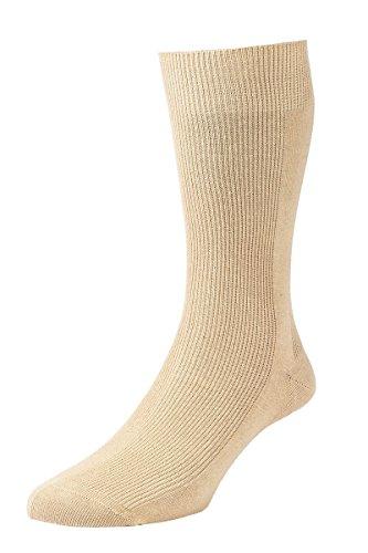 HDUK Mens Socks HJ Hall Executive Getäfelten Rib hj101Baumwolle Socken/UK 6–11, UK 11–13und UK 13–15 Gr. Medium, hellbeige