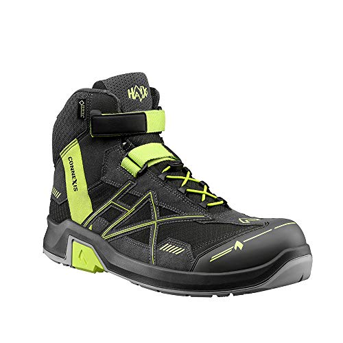 Haix CONNEXIS Safety GTX S3 mid/Grey-Citrus. UK 8.5 / EU 43