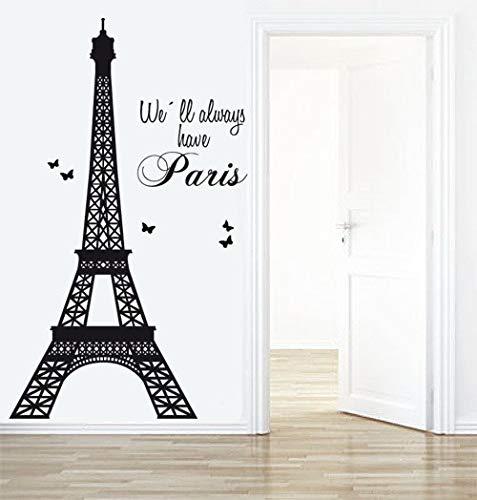 Graz Design - Adesivo da parete, soggetto: Torre Eiffel, Parigi