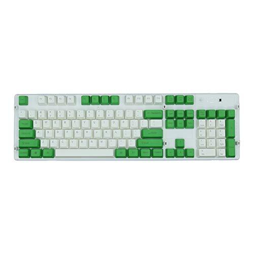Conjunto de Llaves 104pcs Key Caps Set PBT Color surtificado KeyCaps Ergonómicos para Teclado mecánico Key Cap Teclados Accesorios Teclado keycaps (Color : 4)