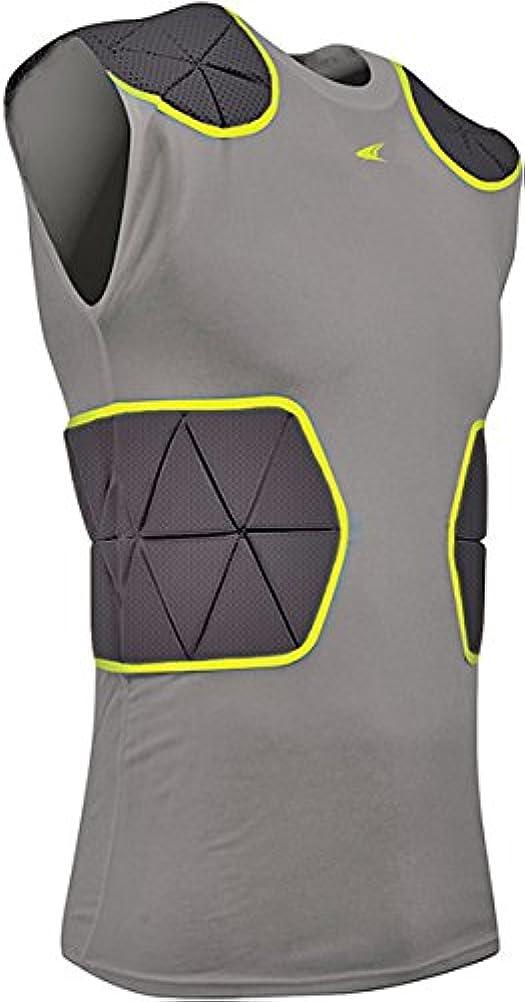 牛キャリッジスイス人(Small, Black/Charcoal) - CHAMPRO Youth Dri-Gear Padded Shirt