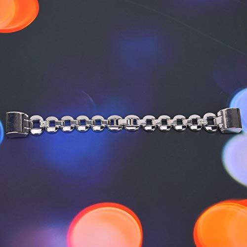 Smart Armband Armband Korrosionsbeständigkeit Metall Uhrenarmband Edelstahl Antiallergie für Handgelenk Größe ist 5,5-7,5 Zoll(Silver white diamonds)