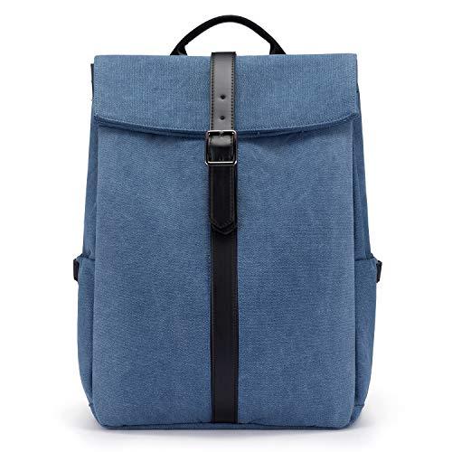 LOVEVOOK Laptop Rucksack Damen Schule Groß Rucksack 15.6 Zoll Schulrucksack Backpack Schultasche Damen Groß für Schule Backpacker Rucksack Wasserdicht Daypack für Arbeit Schule (Blue)