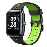 Lintelek Smartwatch 1,3 Zoll Touch Farbdisplay Screen mit GPS 5ATM Wasserdicht Fitness Armband mit Pulsuhren Schlafmonitor Fitness Tracker Wettervorhersage Sportuhr Schrittzähler für Damen Herren