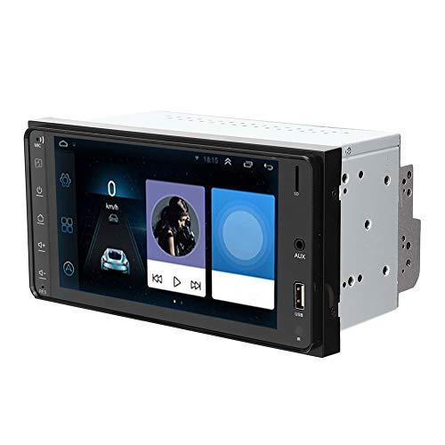 Reproductor de radio de radio, ABS y aleación de aleación de aluminio Control de control de dirección Soporte de control de reversión de video DIN Radio para iOS de un solo sentido