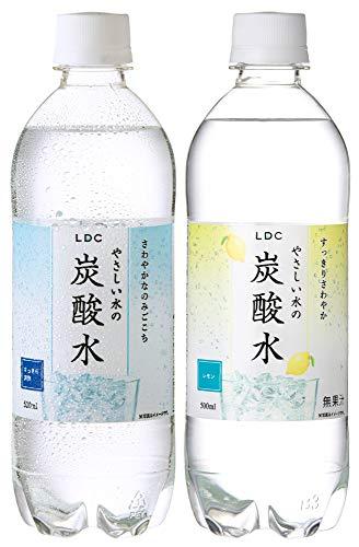 LDC やさしい水の炭酸水 プレーン・レモン 500ml×48本(各24本)