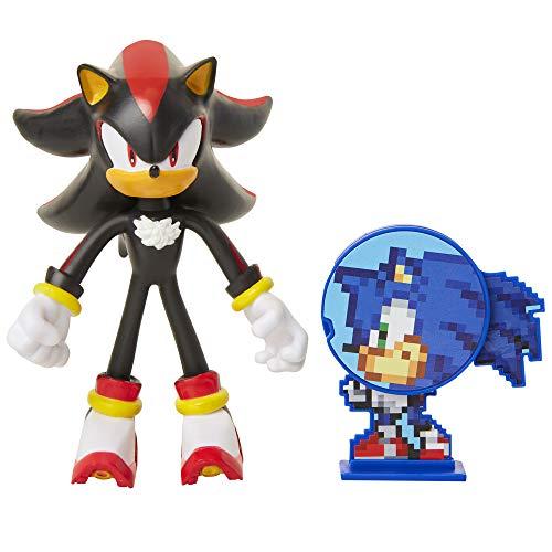 Sonic: Shadow, Figura de ación (tamaño 10 cm) con Miembros Flexibles y Accesorio