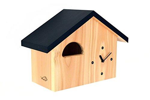Vogelhaus Uhr, Nistkasten, NKU-b120-ws für den Hausrotschwanz