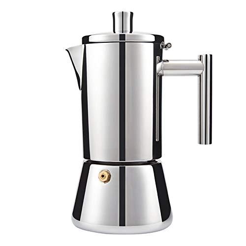 Cafetera Italiana Moka Expresso, Estufa De Inducción, Acero Inoxidable De Calidad Alimentaria, Cafetería Aislada Para El Hogar Y La Oficina