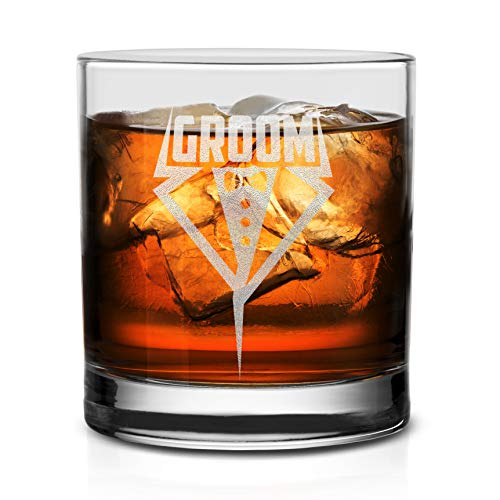NeeNoNex Groom Tuxedo Whiskey Glass - Wedding Bachelor Party Gift for Groom