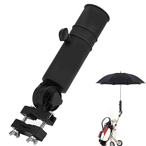 OhhGo Golf Trolley Umbrella Holder Universal Golf Cart Umbrella Stand for Golf Cart Handles Black