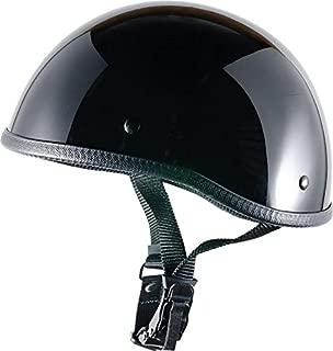 Bikerhelmets.com- SOA InspiredMotorcycle Helmet -DOT Approved Ultra Low Profile Beanie - Gloss Black No Peak - X-Small