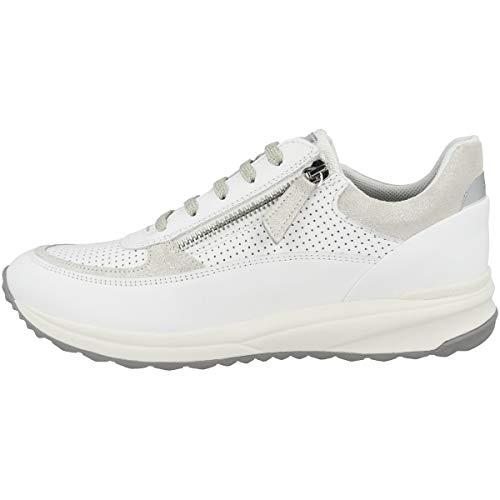 Geox D AIRELL A, Zapatillas Mujer, Color Blanco, 40 EU